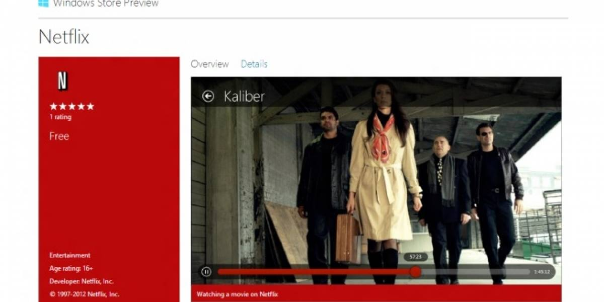 La aplicación de Netflix para Windows 8 ya está disponible en la Windows Store