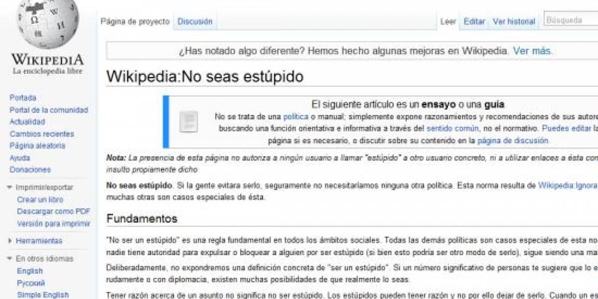 Wikipedia en español es la peor de todas