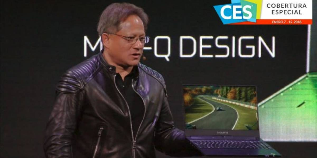 NVIDIA muestra un notebook cuatro veces más potente que un MacBook Pro #CES2018