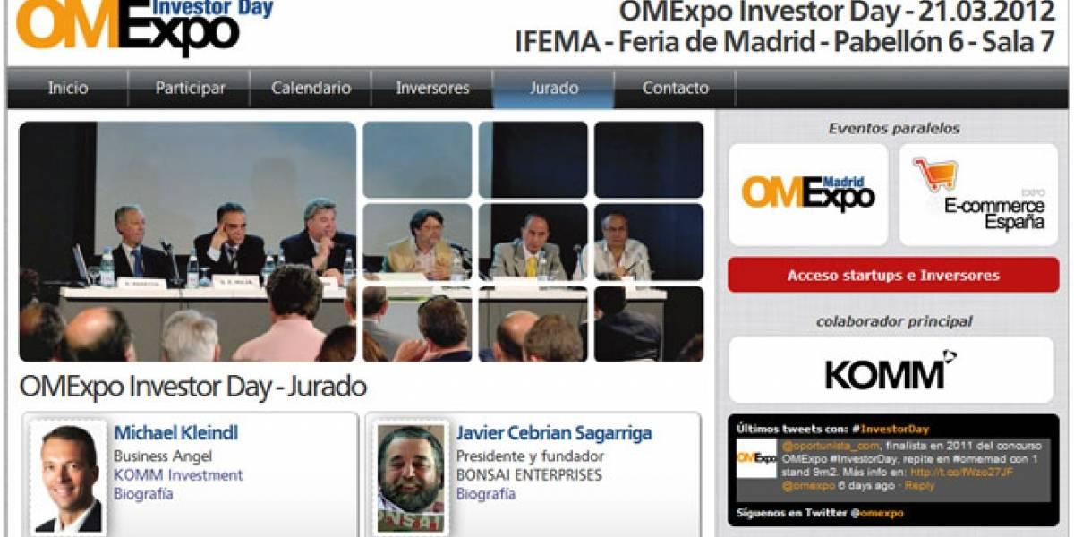 España: OMExpo Investor Day 2012 busca emprendedores tecnológicos
