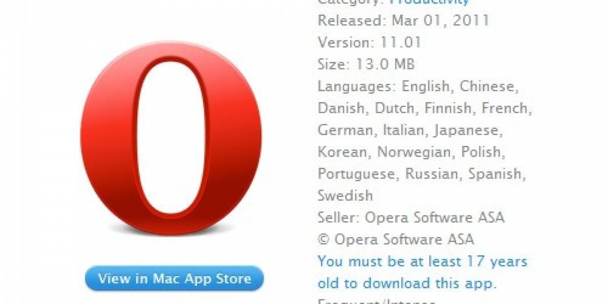 Apple considera que Opera es un software para mayores de 17 años