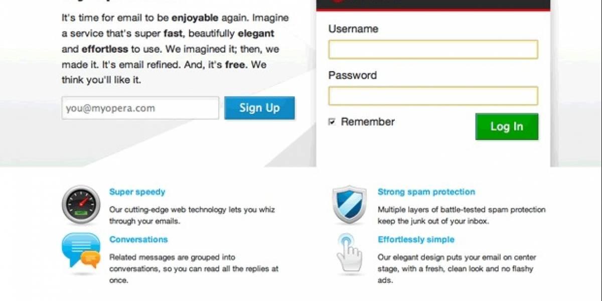 Opera lanza nuevo servicio de correo electrónico