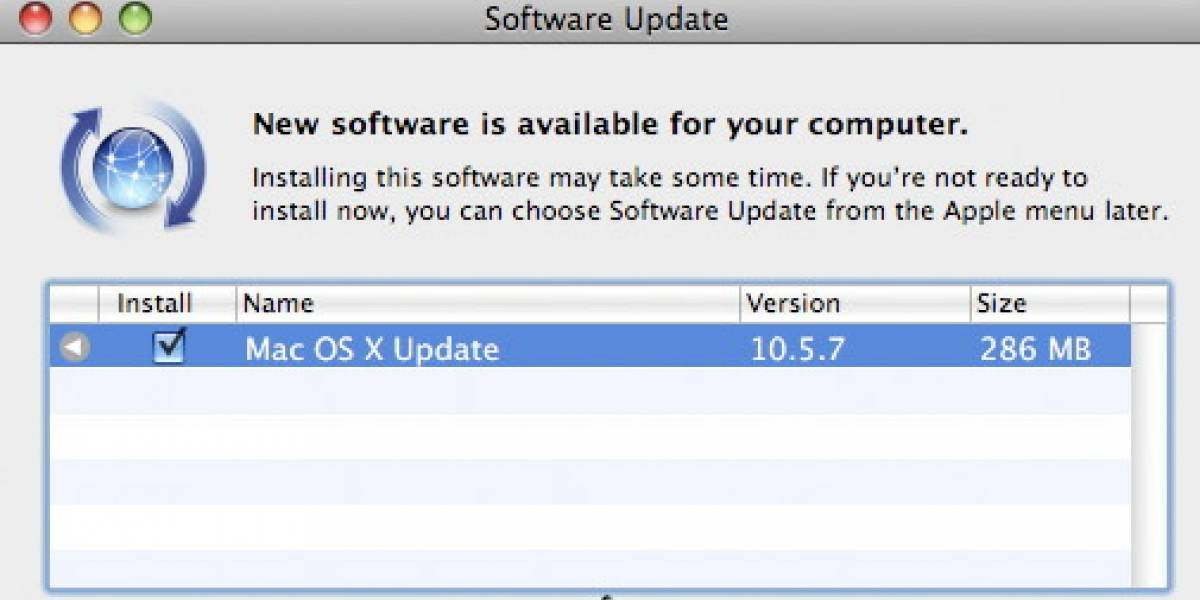 Apple lanza actualización Mac OS X 10.5.7