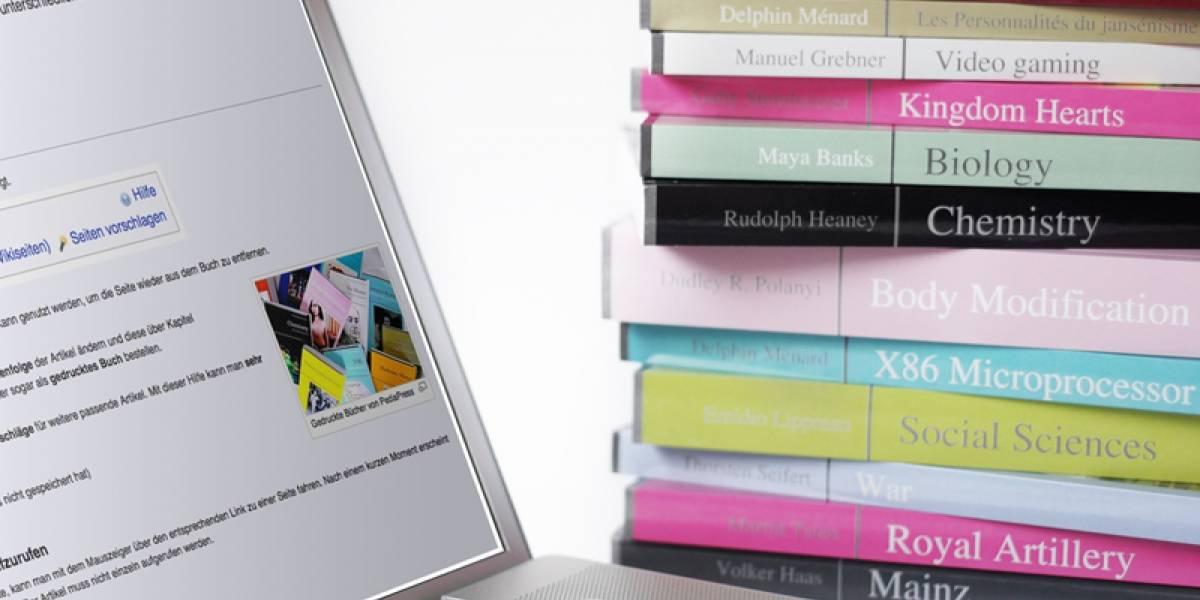 Wikipedia ya permite imprimir libros de su contenido