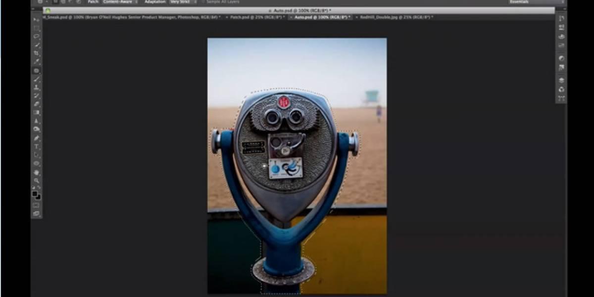 Adobe Photoshop CS6 permitirá mover partes de la imagen reemplazando el fondo