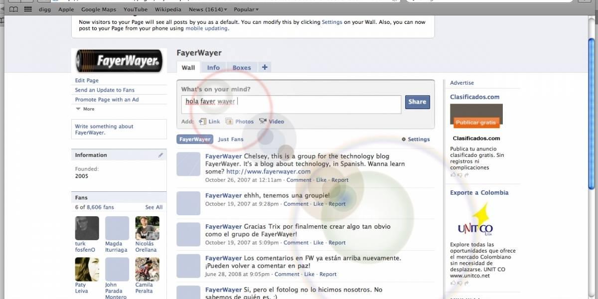 Código Konami en Facebook