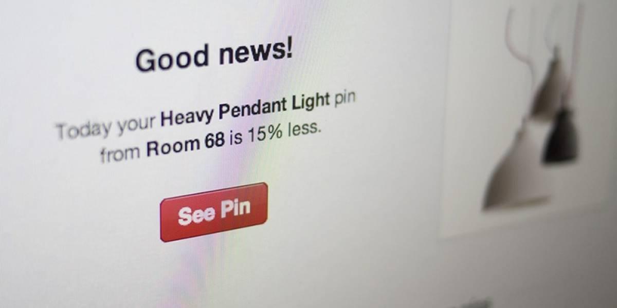 Pinterest enviará notificaciones por correo electrónico para avisar de ofertas