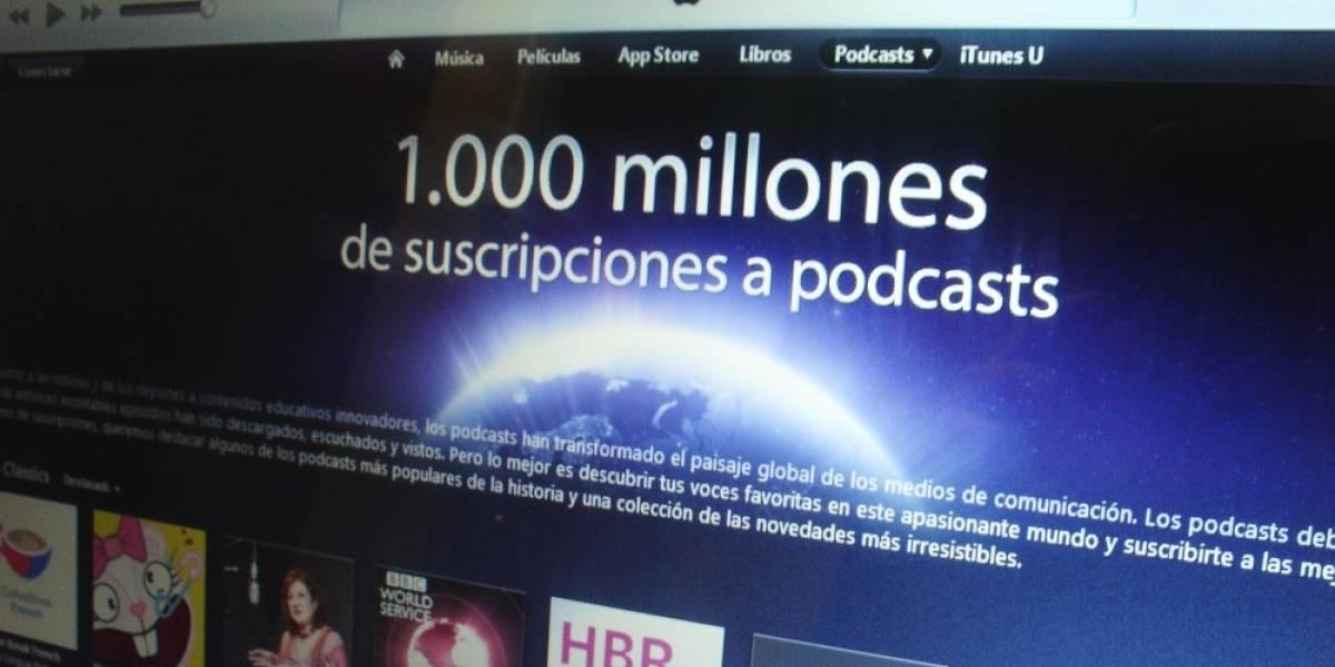 Los podcasts de iTunes ya tienen 1.000 millones de suscripciones