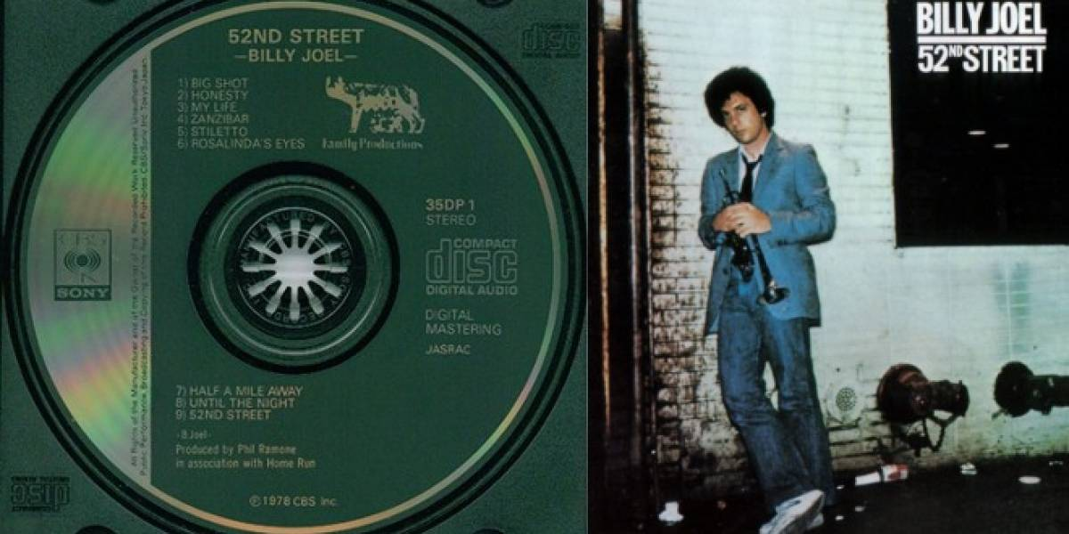 Hace 30 años se lanzó el primer CD de música: 52nd Street de Billy Joel