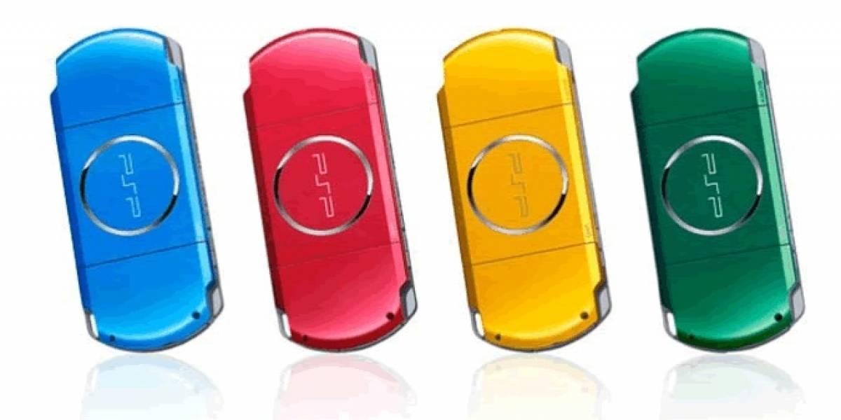 Sony agrega 4 colores a su consola portátil PSP
