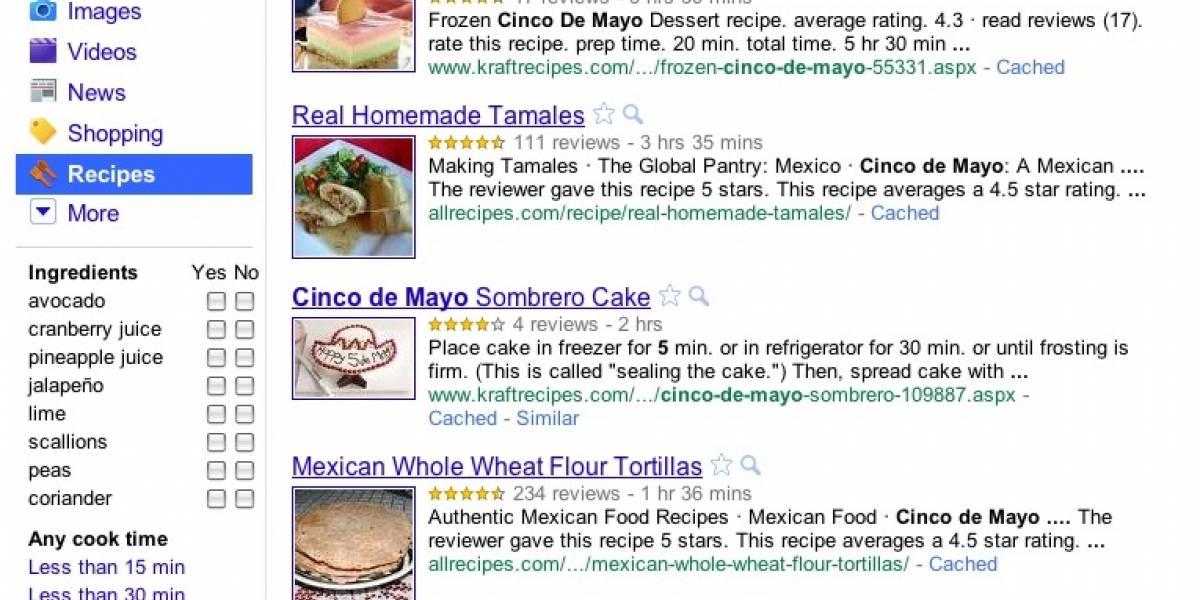 Google cocinó nuevo sistema de búsqueda de recetas