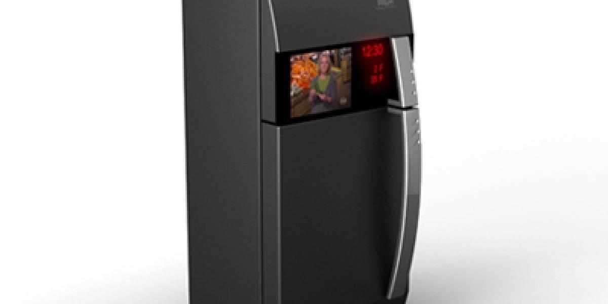 Refrigerador con TV te permite ver películas en la cocina