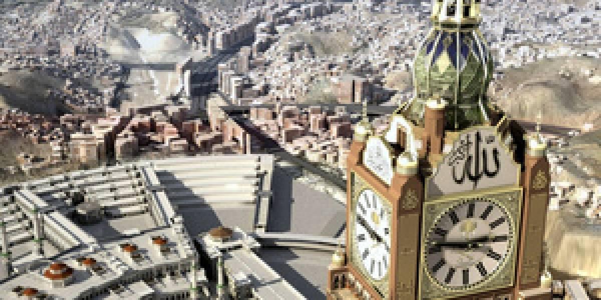 Arabia Saudita construye el reloj más grande del mundo para cambiar el estándar GMT