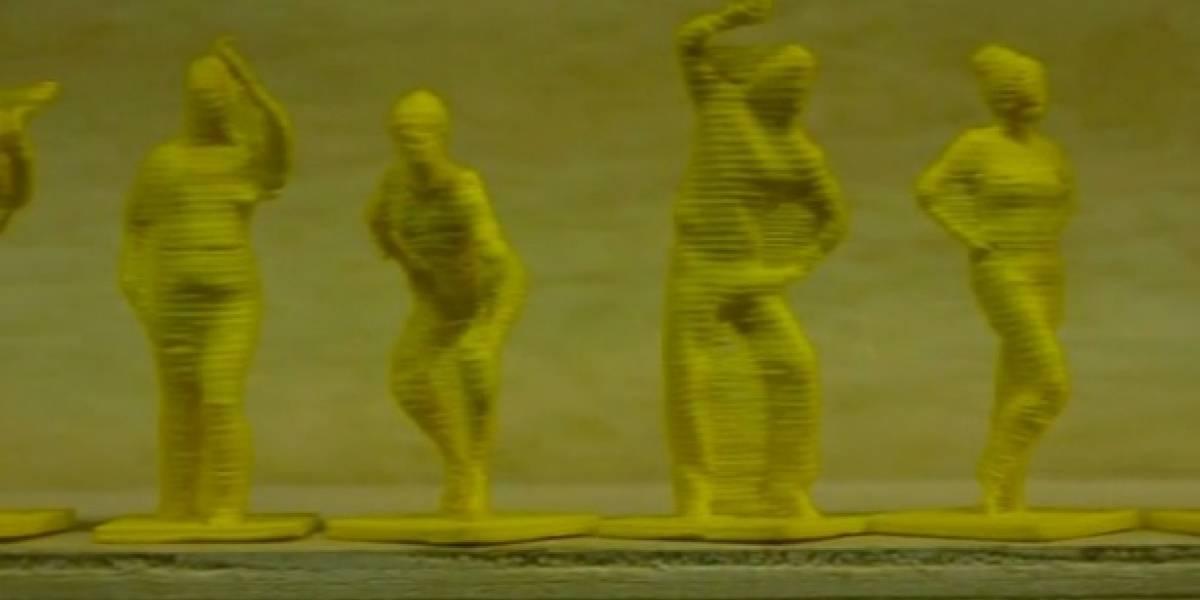 Hack de Kinect permite hacer figuritas souvenir de uno mismo