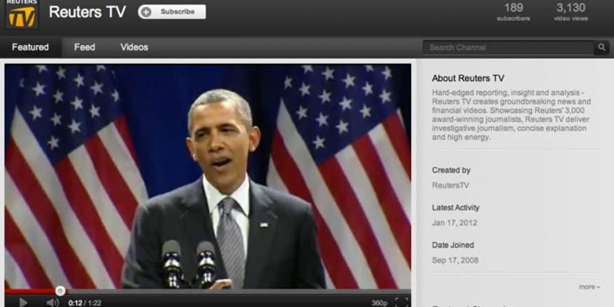 Reuters lanza canal de TV en YouTube