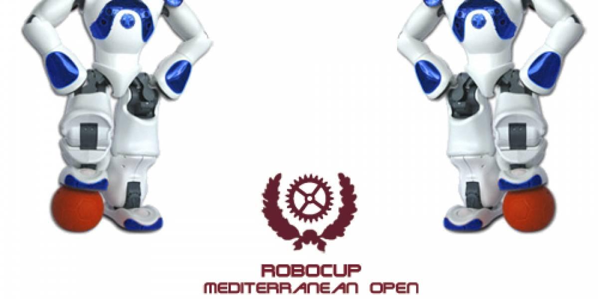 Robots futbolistas españoles participan en la 'RoboCup Mediterranean Open'