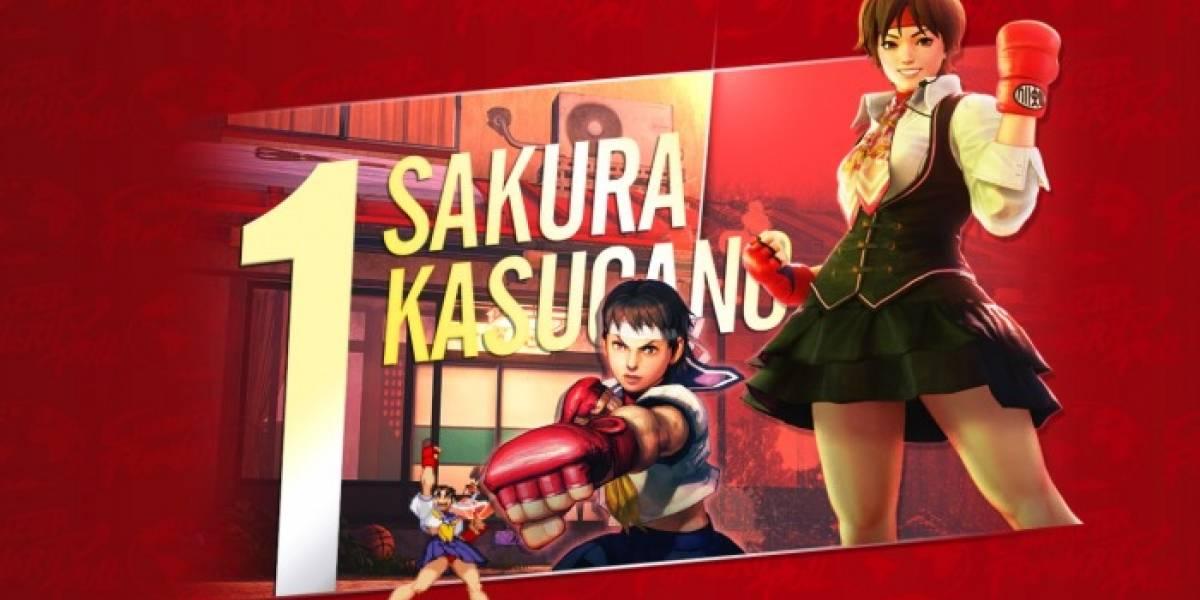 Sakura es el personaje más popular de Street Fighter
