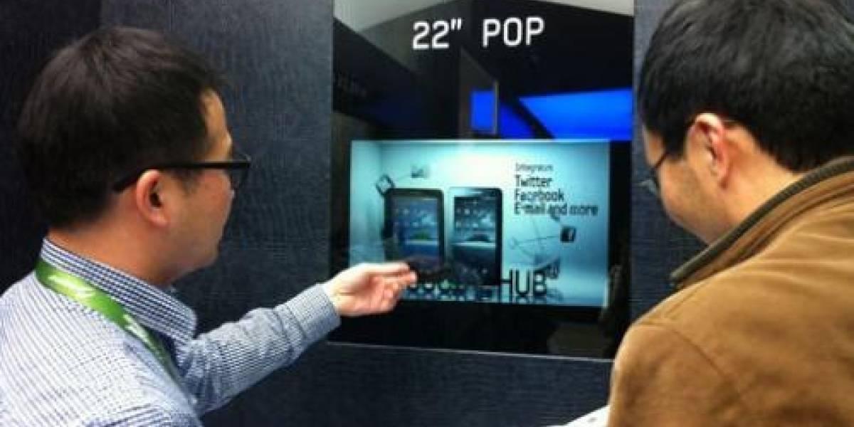 Samsung comienza a producir pantallas LCD transparentes en masa