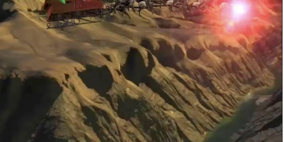 Santa sí existe y Google Earth te lo demuestra