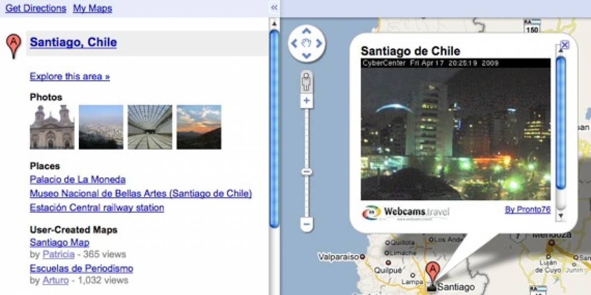 Google Maps ahora con cámaras Web