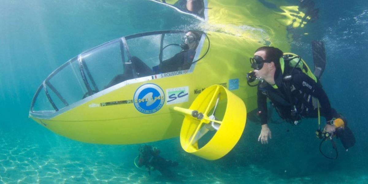 Scubster: submarino de carreras, ¡de pedales!
