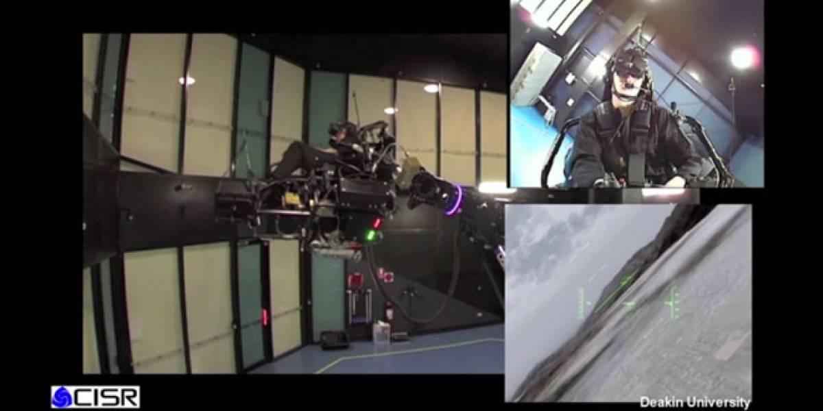 Universidad australiana construye impresionante simulador de vuelo
