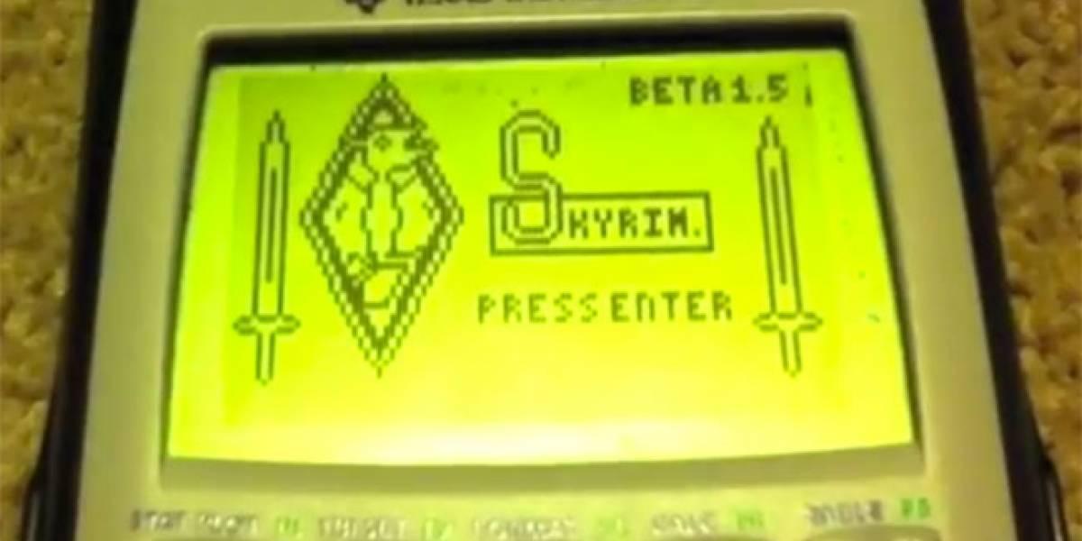 WTF? Juega a Skyrim en tu calculadora