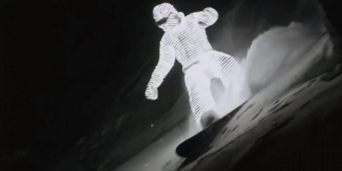 "Un surfista de nieve ""ilumina"" los alpes franceses"