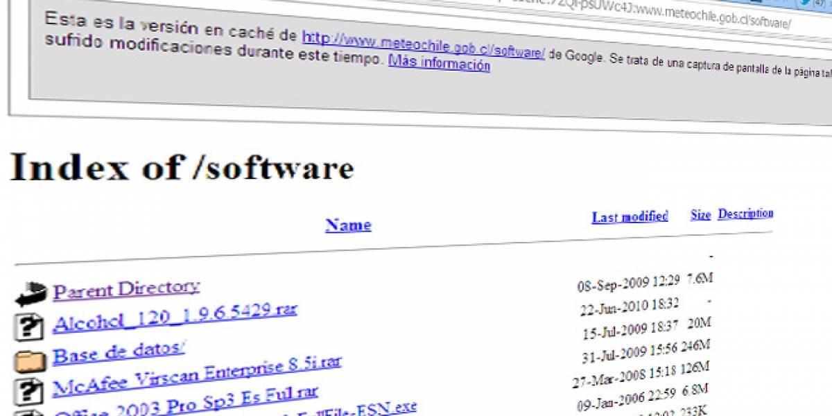 Chile: Descubren software pirata alojado en el sitio de la Dirección Meteorológica