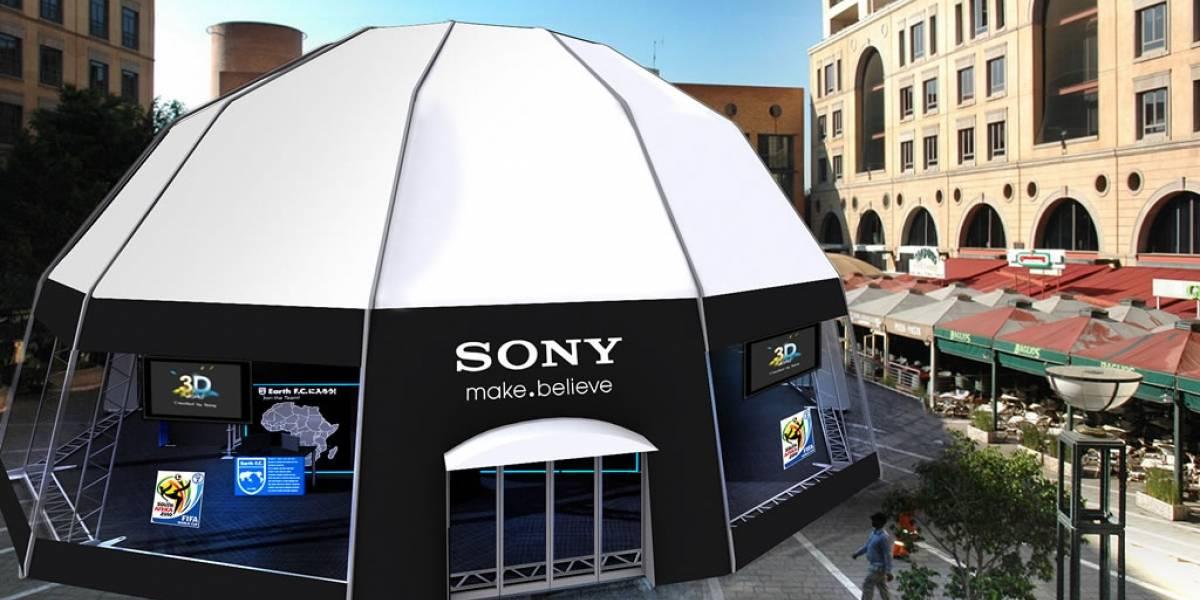 Sony instala carpas para ver fútbol en 3D durante el mundial