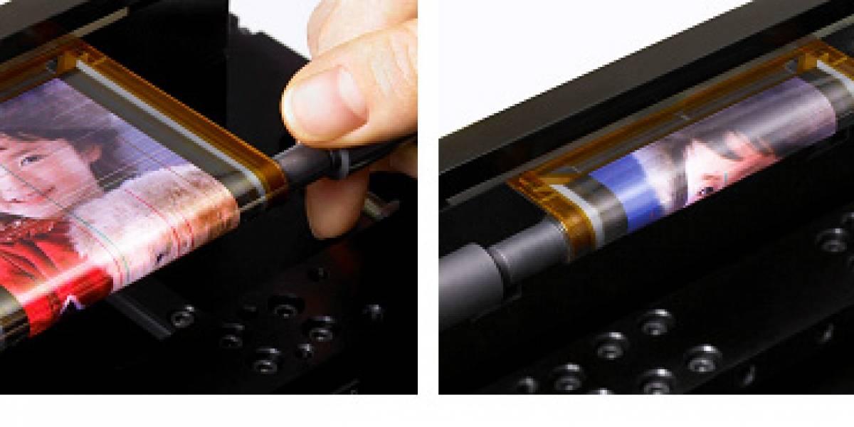 Sony presenta una pantalla OLED que puede enrollarse