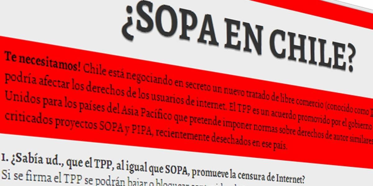 Chile: Lanzan campaña contra tratado TPP, similar a la Ley SOPA