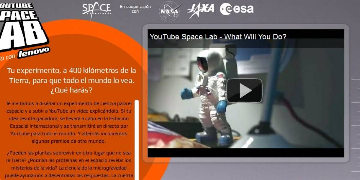 YouTube anuncia los finalistas del concurso Space Lab