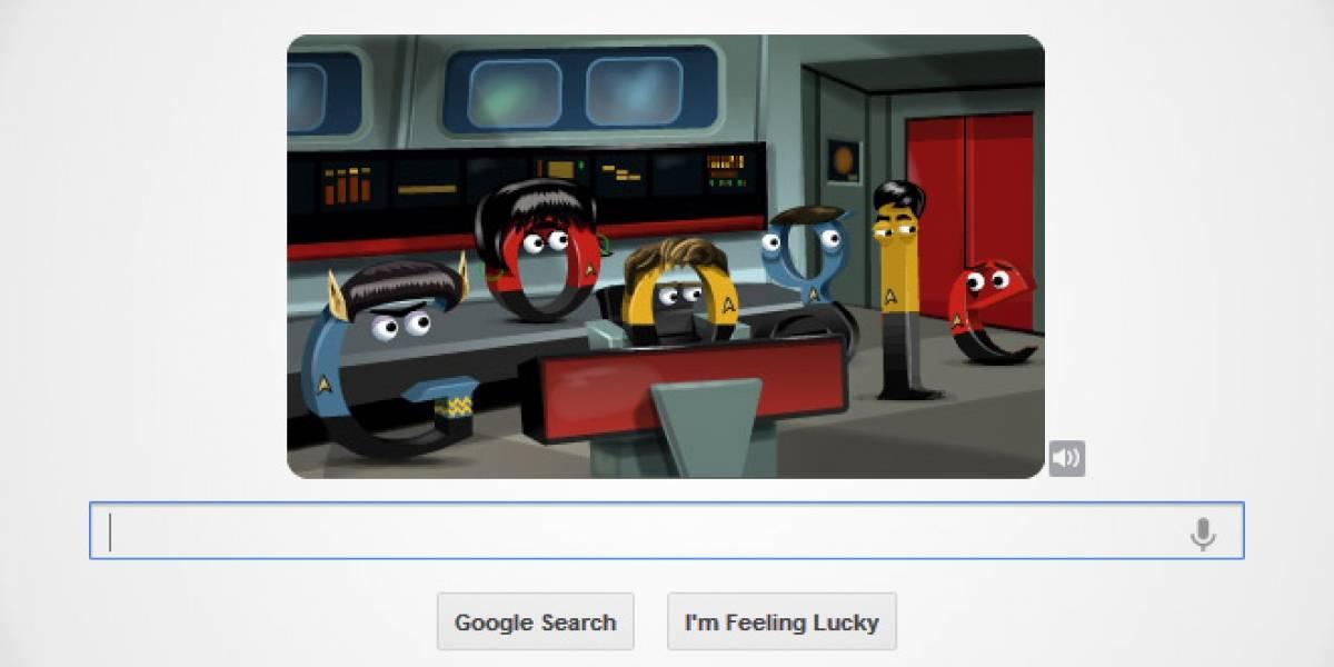 Google homenajea a Star Trek con doodle interactivo