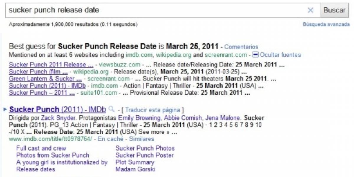 Google 'predice' fechas de estreno de películas y videojuegos
