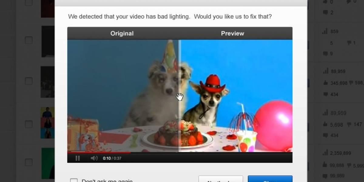 Editor de YouTube ahora mejora los videos con un clic