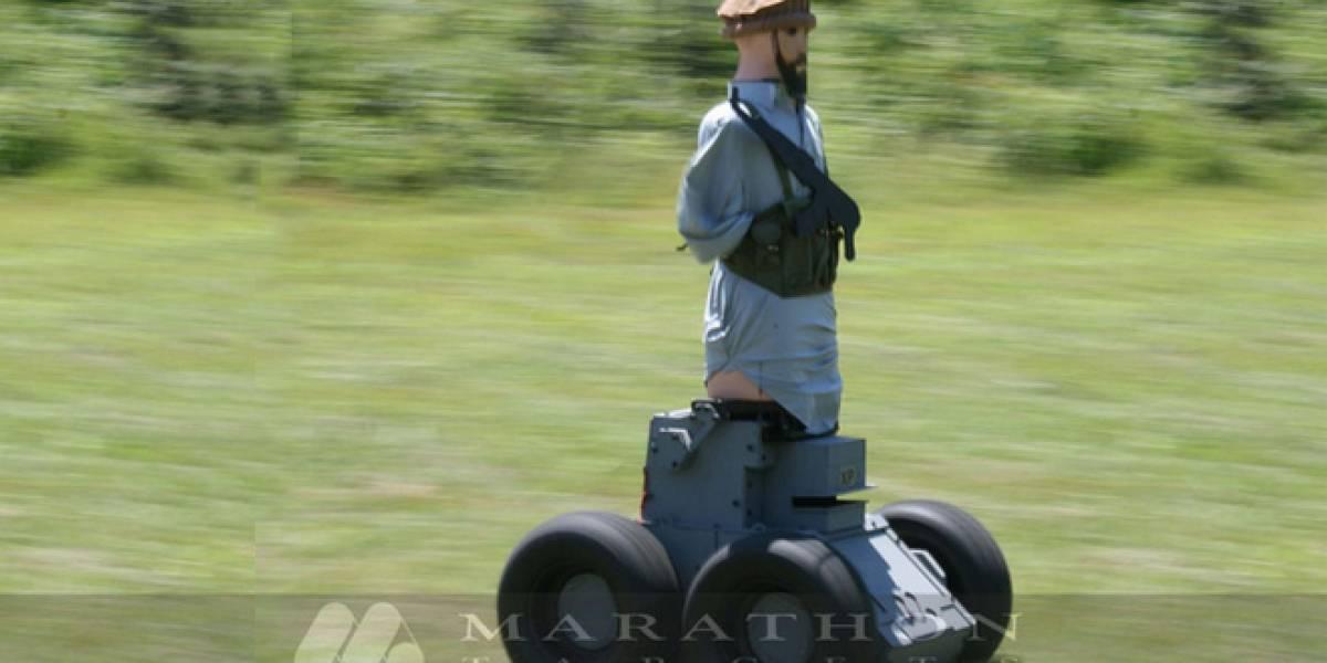 Marines de Estados Unidos tienen terroristas talibanes robots para practicar