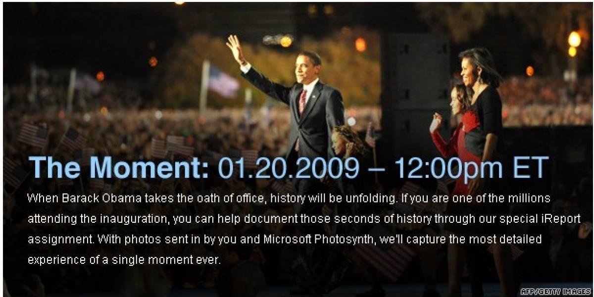 Con Photosynth podremos ver la toma de posesión de Obama en 3D