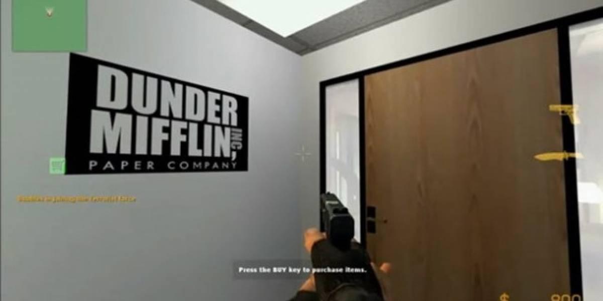 La serie de TV The Office recreada en un nivel del Counter Strike