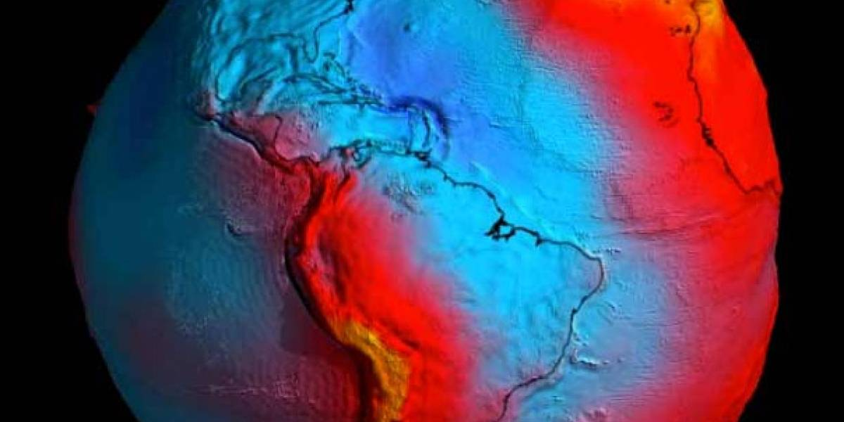 Tierra con forma de papa muestra la gravedad en nuestro planeta