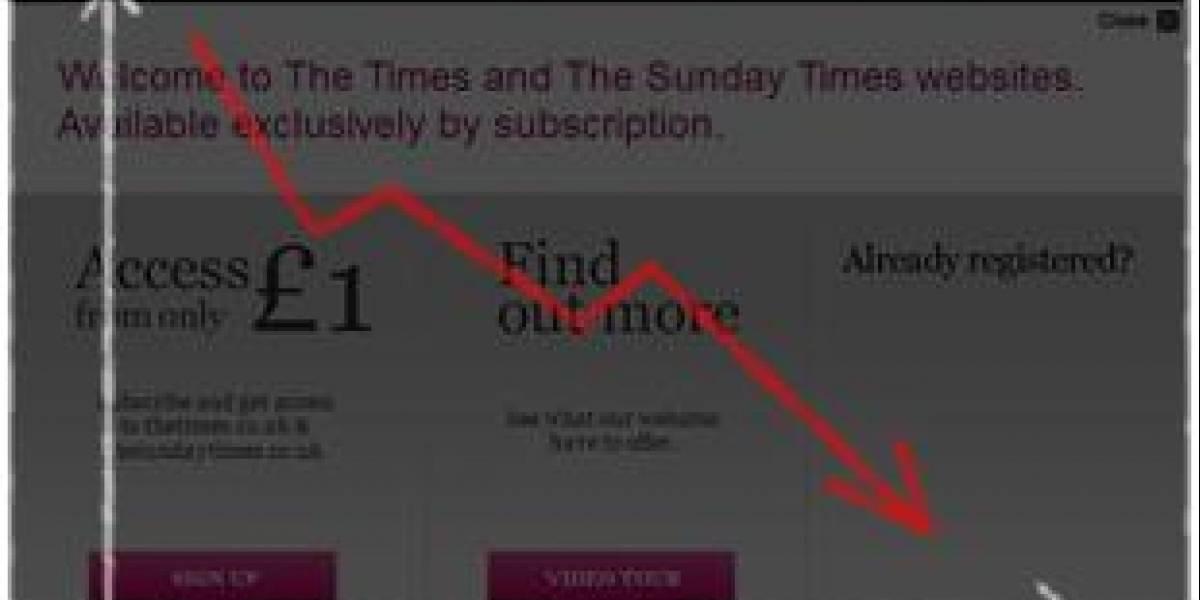 Tráfico de Times Online cae un 67% desde que es pagado