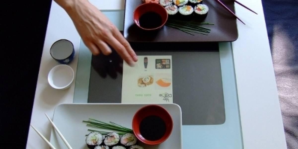 Draqie: La mesa interactiva para poder hacer nuestro pedido de comida