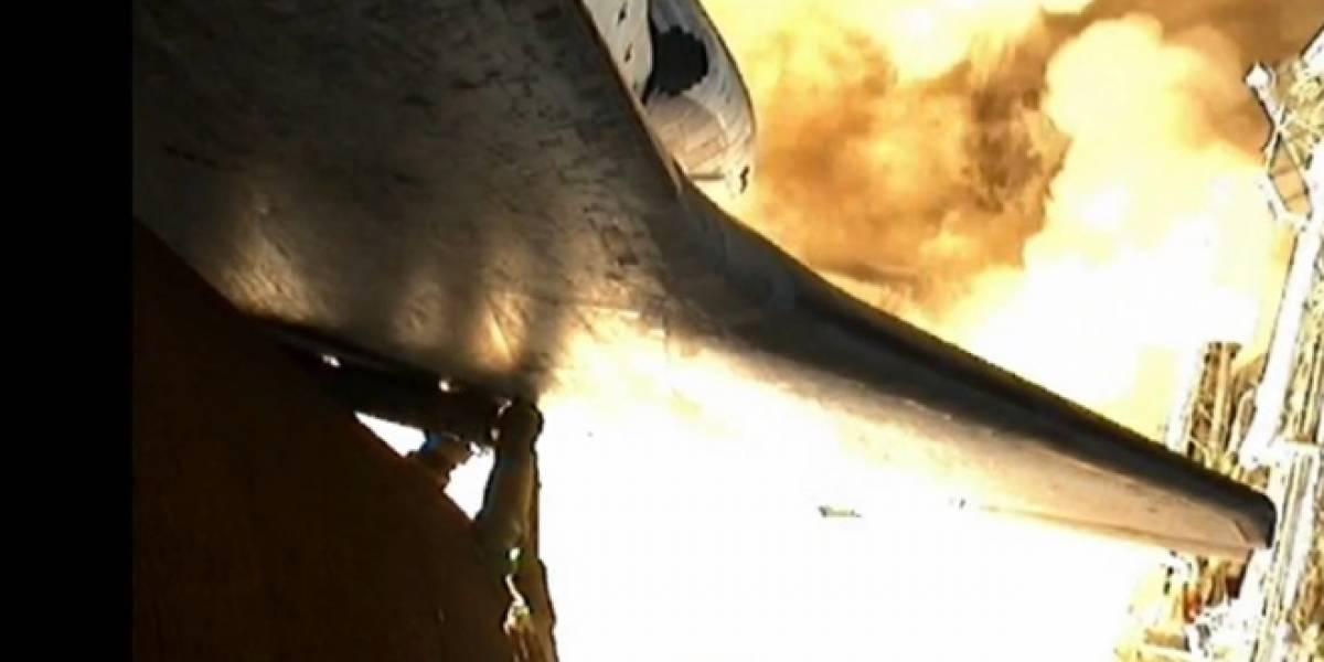 Imperdible: Escucha (y mira) el despegue del transbordador espacial