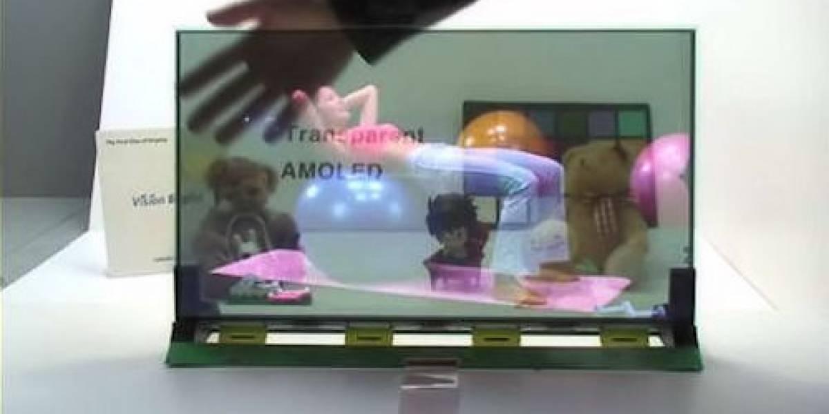 Samsung desarrolla una pantalla AMOLED semitransparente de 19 pulgadas