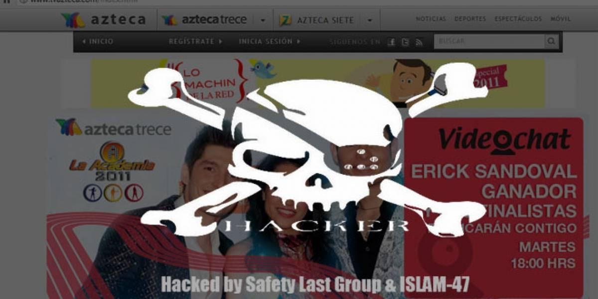 México: Hackean el sitio web de TV Azteca