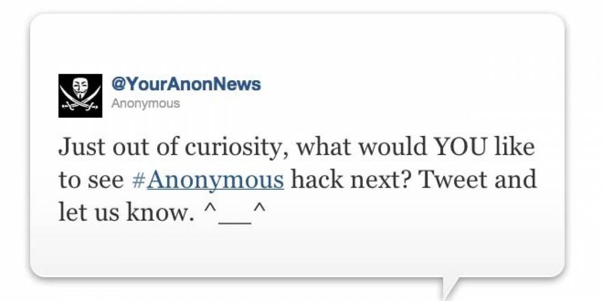 Anonymous pregunta al aire: ¿Qué les gustaría que hackeáramos ahora?