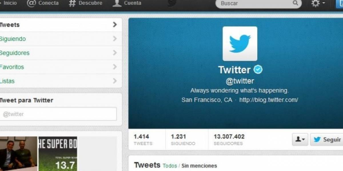 Twitter realiza cambios para promover el uso de la página de perfil de usuario