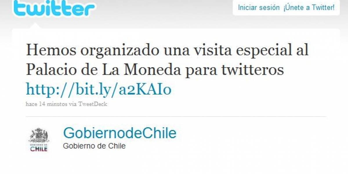Chile: La Moneda organiza visita para Twitteros