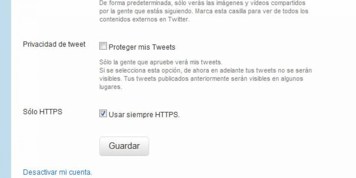 Twitter agrega opción de seguridad para usar siempre sobre HTTPS