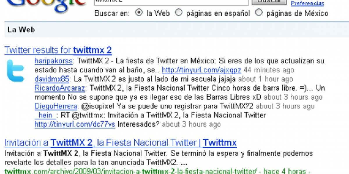 Script para integrar Twitter en los resultados de Google
